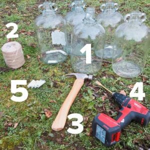equipment needed to tap a silver birch tree for water